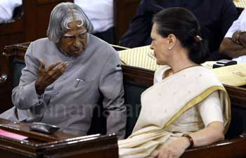 "Sonia was Constitutionally eligible to be PM: Kalam,"" சோனியா பிரதமராக தகுதி படைத்தவர்"" - சொல்கிறார் கலாம்"