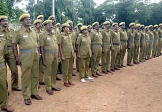 Police station work for Home guards ஊர்க்காவல் படை வீரர்களுக்கு போலீஸ் ஸ்டேஷனில் பணி