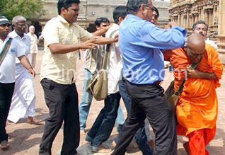 srilankan student hitted in tanjore