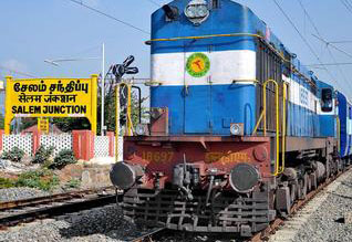Salem Karur broad guage line operation delayed