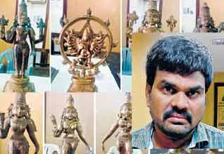 ரூ.80 கோடி மதிப்புள்ள பஞ்சலோக சிலைகள் மீட்பு : சர்வதேச கடத்தல்காரன் சுபாஷ் கபூரின் கூட்டாளி கைது