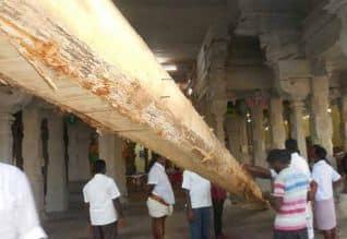 ராமேஸ்வரம் கோயிலில் புதிய கொடி மரம்  ஜூலை 21ல் பிரதிஷ்டை
