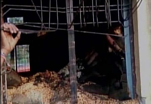 ம.பி., ரேஷன், கடை, தீ, விபத்து,14 பேர் பலி