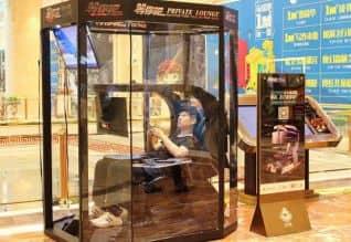 சீனா, China,கணவன், husband,ஷாப்பிங் மால்கள், shopping malls,ஓய்வறை,restroom,  ஷங்காய், sangai,டெலிபோன் பூத்கள்,  telephone booths, கம்ப்யூட்டர் விளையாட்டுக்கள், computer games, மனைவி, wife, மொபைல் போன் ஆப் ,mobile phone app,  டிவி,tv,
