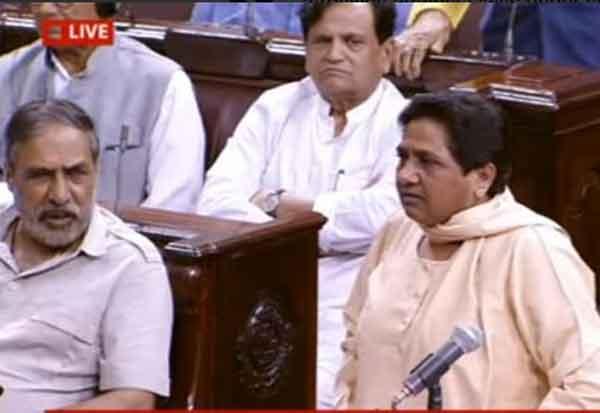 ராஜ்யசபா, Rajya Sabha, மாயாவதி, Mayawati, வெளிநடப்பு,  walkout,லோக்சபா, yawati, walkout, Lok Sabha,பிரதமர், Prime Minister, பசு , Cow, கொலை, murder,புதுடில்லி,New Delhi, உ.பி., UP,தலித் மக்கள்,Dalit people, பகுஜன்சமாஜ் கட்சி, Bahujan Samaj Party, ராஜினாமா , resignation,