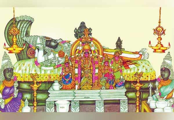 பரிமளரங்கநாதர்,parimalarangar,  அரக்கர்கள்,Demons, பிரம்மா, Brahma,மகாவிஷ்ணு, Maha Vishnu,வேதங்கள், Vedas,