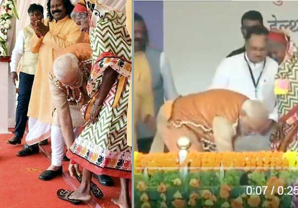 ஜார்க்கண்ட் மாநிலம்,  பிரதமர் மோடி, மூதாட்டி ராத்னிபாய் ,பழங்குடியின மூதாட்டி , மூதாட்டிக்கு காலணி அணிவித்த மோடி, Jharkhand State, Prime Minister Modi, Tribal Godmother, Godmother Rathnibhai,