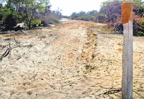 தனுஷ்கோடி ரயில் தடத்தில் சுற்றுலா சாலை: அதிகாரிகள் ஆய்வு
