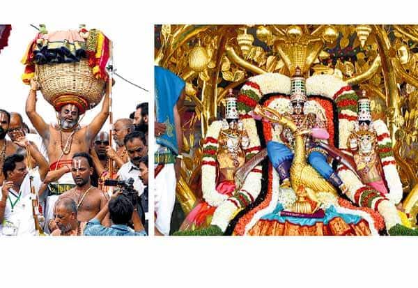 திருமலை ஏழுமலையானுக்கு திருக்குடைகள் சமர்ப்பணம்