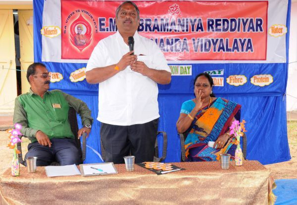 விவேகானந்தா பள்ளியில்ஊட்டச்சத்து நிகழ்ச்சி