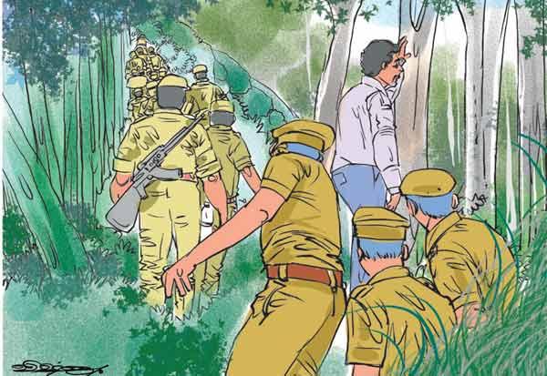 காட்டுக்குள் சிக்கிய எஸ்.பி.,