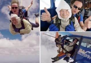 ஸ்கை டைவிங் செய்த 102 வயது பாட்டி