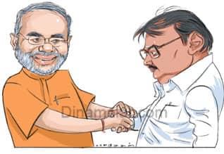 DMK upset,  Modi-vijayakanth, மோடி - விஜயகாந்த், தி.மு.க., அப்செட்