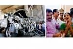 பஸ்சில் மோதி பாலத்தில் கவிழ்ந்தது கார் : அவிநாசி அருகே கோர விபத்து: 6 பேர் பலி