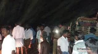 மினிலாரி மீது லாரி மோதல் : 13 பேர் பலி