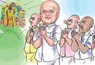 தேர்தல் வெற்றிக்காக கார்த்தி சிதம்பரம் மொட்டை