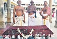 அகோரமூர்த்தி சன்னிதியில் ருத்திராட்ஷ பந்தல் அமைப்பு