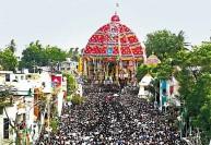 'ஆரூரா... தியாகேசா...' கோஷத்துடன் திருவாரூரில் ஆழி தேரோட்டம்