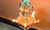 திருவிளக்கு பூஜையில் சுமங்கலிகளுடன்