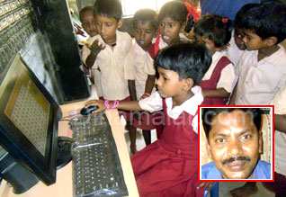Head master trains his students with modern equipments