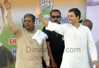"""கர்நாடகாவை கொள்ளையடித்த பா.ஜ.,: ராகுல் பிரசாரம்,Rahul takes on BJP for """"looting"""" Karna, launches poll campaign"""