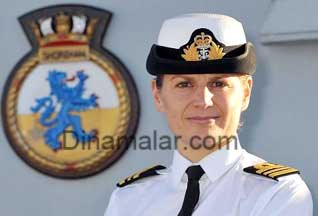 Woman to command a Royal Navy ship in its 500-yr history ,பிரிட்டீஸ் கப்பற்பபடையில் முதன்முதலாக பெண்  கமாண்டர் நியமனம்