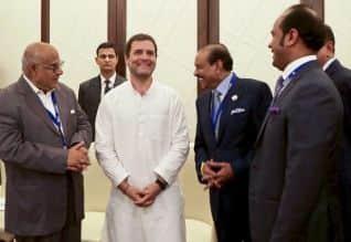 துபாய், இந்திய தொழிலாளர், காங்., ராகுல் , Rahul Gandhi, Dubai, Congress leader, business leaders,workers, UAE