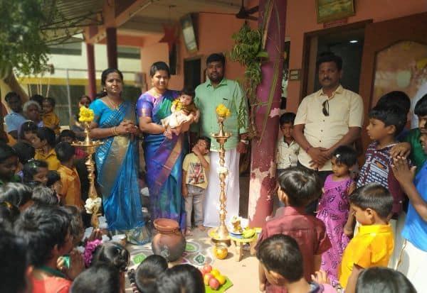 ஆச்சாரியா பால சிக்ஷா மந்திர் பள்ளியில் பொங்கல் விழா