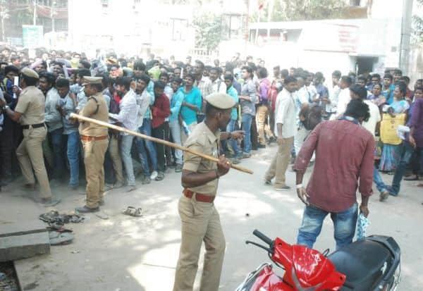 51 வேலைக்கு 5,000 பேர்; தடியடி நடத்திய போலீசார்