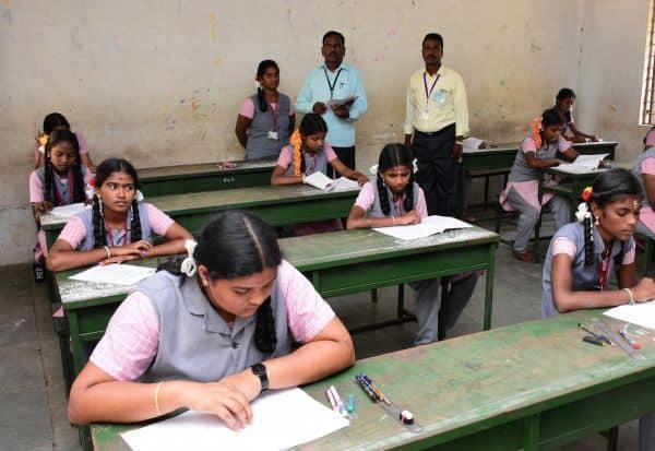 பத்தாம் வகுப்பு தேர்வு துவங்கியது சிதம்பரத்தில் 7,500 பேர் எழுதினர்
