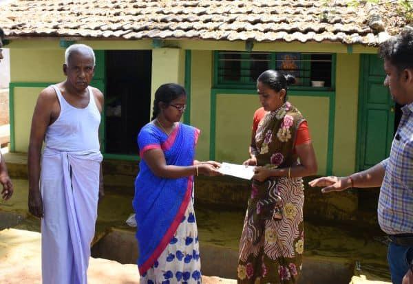 வாக்காளர்களுக்கு 'பூத் சிலிப்' வினியோகம்: உதவி தேர்தல் நடத்தும் அலுவலர் ஆய்வு