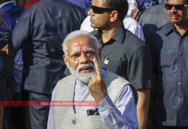 நான்,  அதிர்ஷ்டசாலி, மோடி, பிரதமர், தேர்தல், ஓட்டு