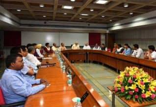 கூட்டணி கட்சி  தலைவர்களுடன் பிரதமர் மோடி சந்திப்பு