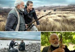 ManVSWild,Bear Grylls,PM Modi,Discovery India,வனப்பகுதி,பிரதமர்,மோடி,சாகச பயணம்