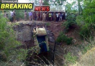 துறையூர்; கிணற்றில் மினி லாரி விழுந்தது; 8 பேர் பலி