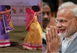 'ஹவுடி மோடி' நிகழ்ச்சியில் கர்பா நடனம்