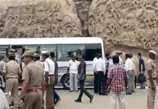 மோடி,ஜின்பின்,சந்திப்பு,சென்னை,காஞ்சி,உச்சக்கட்ட பாதுகாப்பு