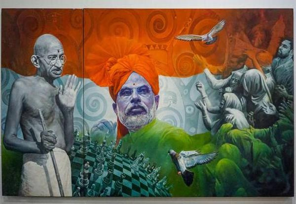 Modi, Narendra Modi, PM, PM Modi, Prime Minister, Auction, Painting, Gandhi, Mahatma Gandhi, மோடி, நரேந்திர மோடி, பிரதமர், பிரதமர் மோடி, காந்தி, மகாத்மா காந்தி, ஓவியம், ஏலம்