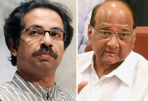 Uttav Thackeray, Sharad Pawar, Siva sena, NCP, சிவசேனா, காங்., தேசியவாத காங்.,