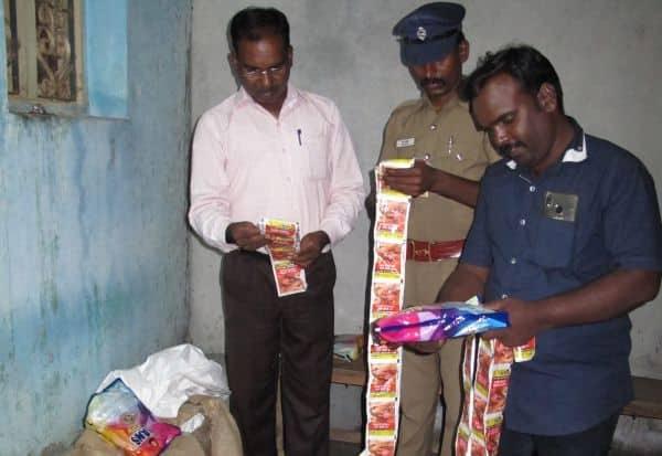 அ.தி.மு.க., பிரமுகர் குடோனில் ரூ.27.59 லட்சம் மதிப்பு குட்கா பறிமுதல்