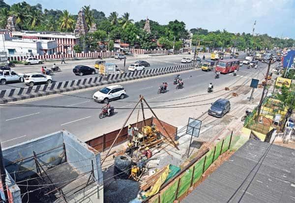 சென்னை ஏர்போர்ட் - கிளாம்பாக்கம் ரயில் பாதையில் மண் ஆய்வு பணி