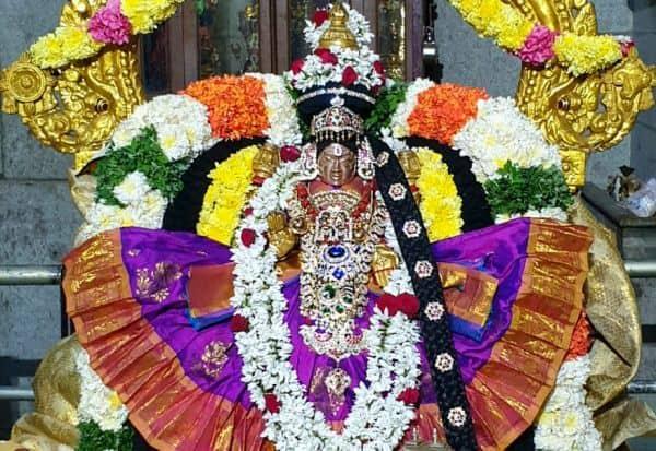 பெருந்தேவி தாயாருக்கு சிறப்பு அலங்காரம்