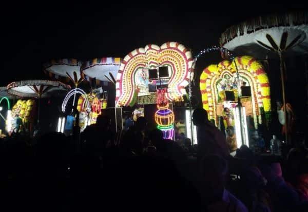 பெருநகர் செய்யாற்றில் ஆற்று திருவிழா ; பனிப்பொழிவிலும் பக்தர்கள் பக்தி பரவசம்
