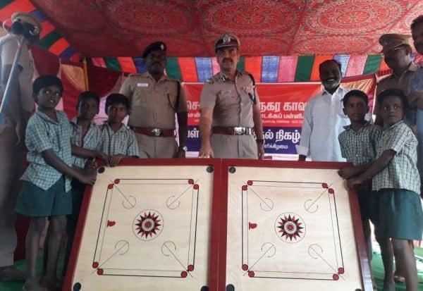மாநகராட்சி பள்ளியை தத்தெடுத்து புனரமைத்த வியாசர்பாடி போலீசார்