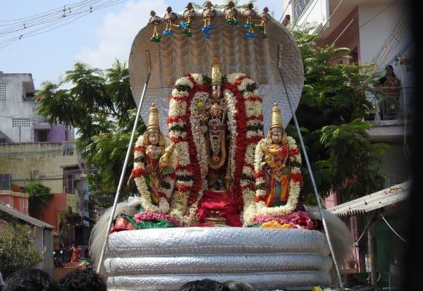 யதோக்தகாரி பெருமாள் நாக வாகனத்தில் உலா