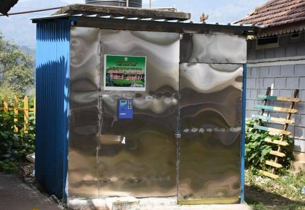 டாப்சிலிப்பில் குடிநீர் இயந்திரம்: பிளாஸ்டிக் பயன்பாடு தவிர்ப்பு