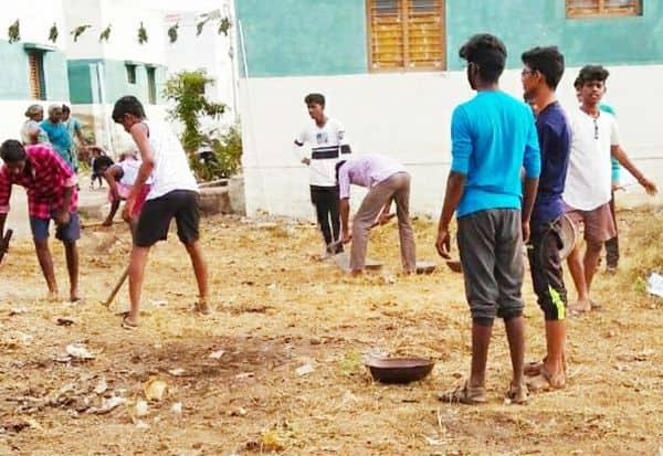 என்.எஸ்.எஸ்.,  முகாம்  துவக்க விழா