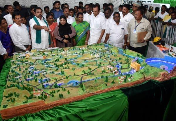காவிரி நீரால் 100 ஏரிகளை நிரப்பும் 565 கோடி ரூபாய் மதிப்பிலான திட்டம்
