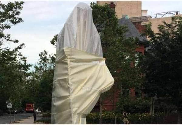 Mahatma Gandhi, mahatma gandhi statue, Indian Embassy, Washington, Black Lives Matter Protesters, george floyd
