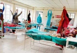 ஊட்டியில் கொரோனா நோயாளிகளுக்கு யோகா பயிற்சி